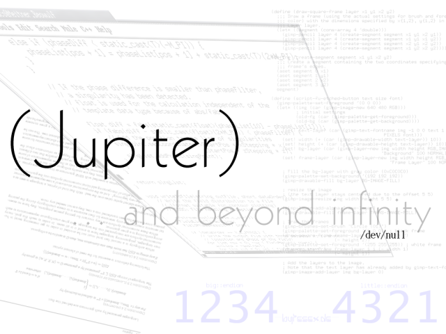 (Jupiter)... and beyond infinity